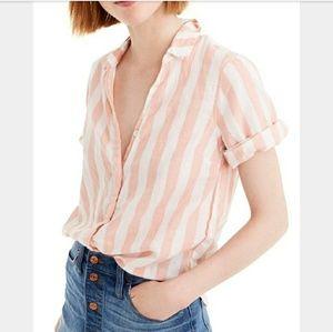 J. Crew stripped blouse